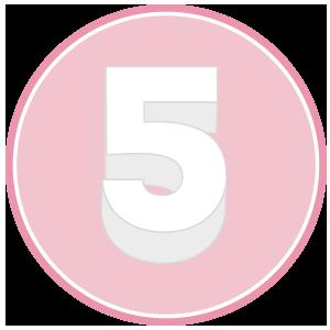 base in polistirolo per torta a forma di numero 5
