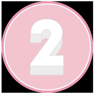 base in polistirolo per torta a forma di numero 2