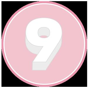 base in polistirolo per torta a forma di numero 9
