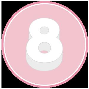base in polistirolo per torta a forma di numero 8