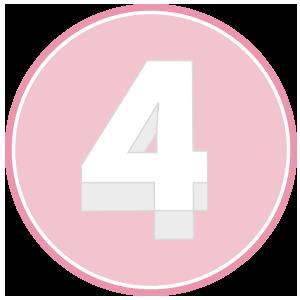 base in polistirolo per torta a forma di numero 4