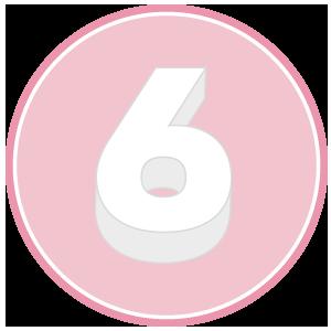 base in polistirolo per torta a forma di numero 6