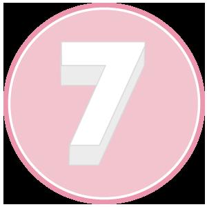 base in polistirolo per torta a forma di numero 7