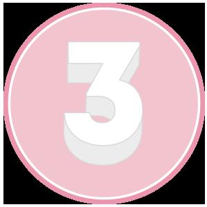 base in polistirolo per torta a forma di numero 3