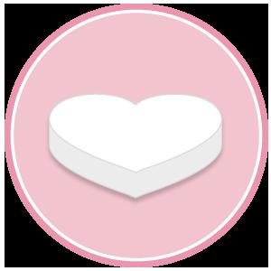 base di polistirolo per torte a forma di cuore