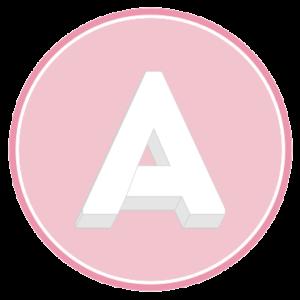 base per torta con la forma della lettera A