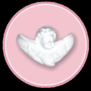 Confezione da n. 8 angeli in polistirolo