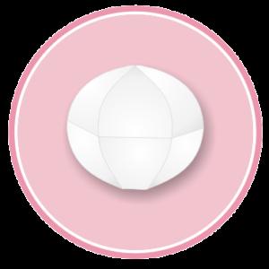 Confezione da n. 8 palle a spicchi in polistirolo