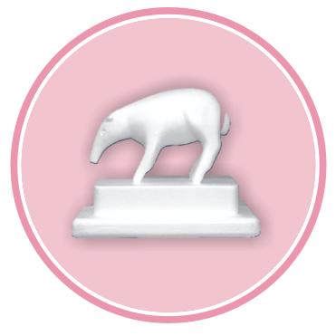 Confezione da n. 1 Tapiro in polistirolo