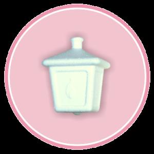 Confezione da n. 16 lanterne da appendere in polistirolo